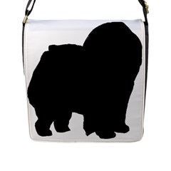 Chow Chow Silo Black Flap Messenger Bag (L)