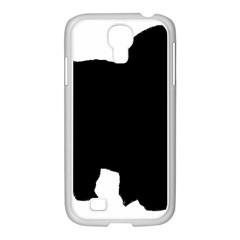 Chow Chow Silo Black Samsung GALAXY S4 I9500/ I9505 Case (White)
