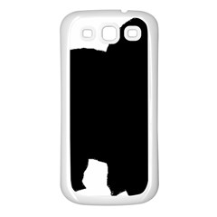 Chow Chow Silo Black Samsung Galaxy S3 Back Case (White)