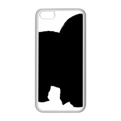 Chow Chow Silo Black Apple iPhone 5C Seamless Case (White)