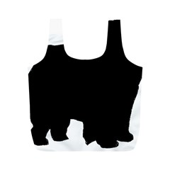 Chow Chow Silo Black Full Print Recycle Bags (M)