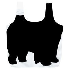 Chow Chow Silo Black Full Print Recycle Bags (L)