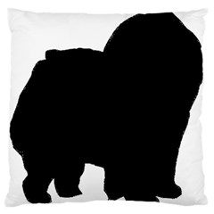 Chow Chow Silo Black Large Flano Cushion Case (One Side)