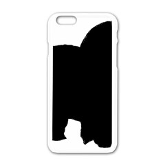 Chow Chow Silo Black Apple iPhone 6/6S White Enamel Case
