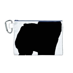 Chow Chow Silo Black Canvas Cosmetic Bag (M)