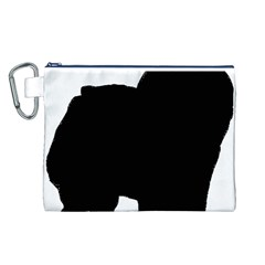 Chow Chow Silo Black Canvas Cosmetic Bag (L)