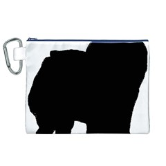 Chow Chow Silo Black Canvas Cosmetic Bag (XL)