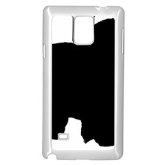 Chow Chow Silo Black Samsung Galaxy Note 4 Case (White)