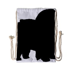 Chow Chow Silo Black Drawstring Bag (Small)