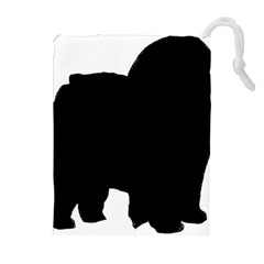 Chow Chow Silo Black Drawstring Pouches (Extra Large)