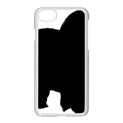 Chow Chow Silo Black Apple iPhone 7 Seamless Case (White)