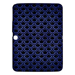 Scales2 Black Marble & Blue Brushed Metal Samsung Galaxy Tab 3 (10 1 ) P5200 Hardshell Case