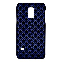 Scales2 Black Marble & Blue Brushed Metal Samsung Galaxy S5 Mini Hardshell Case