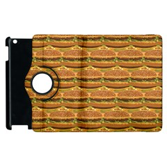 Delicious Burger Pattern Apple iPad 2 Flip 360 Case