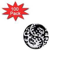 Ying Yang Tattoo 1  Mini Buttons (100 pack)