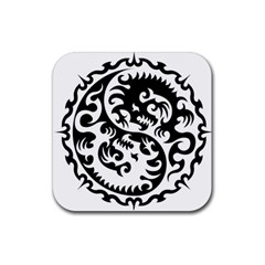 Ying Yang Tattoo Rubber Coaster (Square)