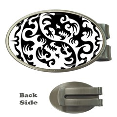 Ying Yang Tattoo Money Clips (Oval)