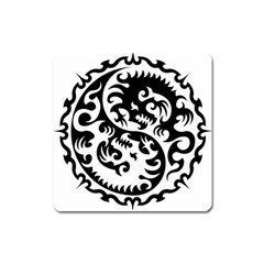 Ying Yang Tattoo Square Magnet