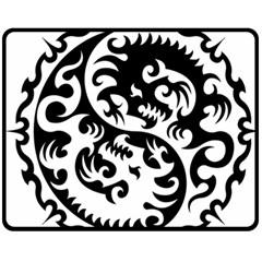 Ying Yang Tattoo Fleece Blanket (Medium)