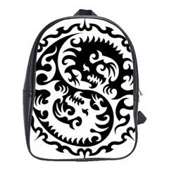 Ying Yang Tattoo School Bags (XL)