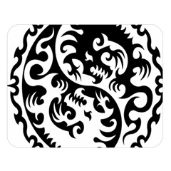 Ying Yang Tattoo Double Sided Flano Blanket (Large)