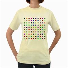 Circle Pattern  Women s Yellow T-Shirt
