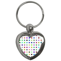 Circle Pattern  Key Chains (Heart)