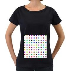 Circle Pattern  Women s Loose-Fit T-Shirt (Black)