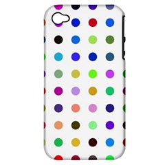 Circle Pattern  Apple iPhone 4/4S Hardshell Case (PC+Silicone)