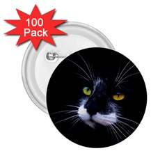 Face Black Cat 2.25  Buttons (100 pack)