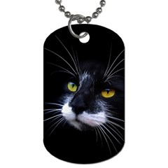 Face Black Cat Dog Tag (One Side)