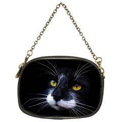Face Black Cat Chain Purses (Two Sides)