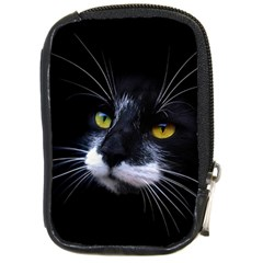 Face Black Cat Compact Camera Cases
