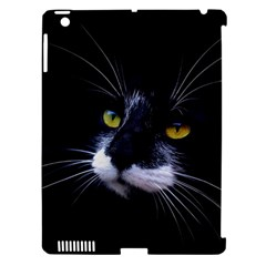 Face Black Cat Apple iPad 3/4 Hardshell Case (Compatible with Smart Cover)