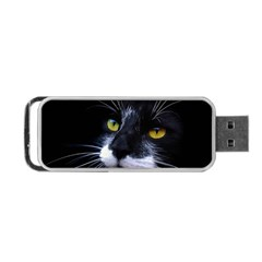 Face Black Cat Portable USB Flash (One Side)