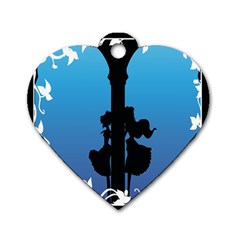 Strawberry Panic Dog Tag Heart (One Side)