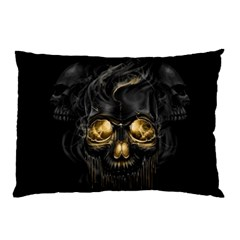 Art Fiction Black Skeletons Skull Smoke Pillow Case