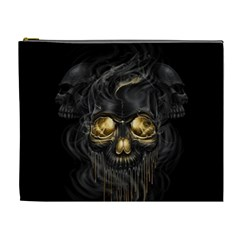 Art Fiction Black Skeletons Skull Smoke Cosmetic Bag (XL)