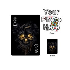 Art Fiction Black Skeletons Skull Smoke Playing Cards 54 (Mini)