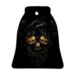 Art Fiction Black Skeletons Skull Smoke Ornament (Bell)