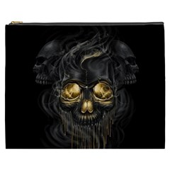 Art Fiction Black Skeletons Skull Smoke Cosmetic Bag (XXXL)