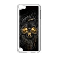 Art Fiction Black Skeletons Skull Smoke Apple iPod Touch 5 Case (White)