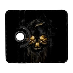 Art Fiction Black Skeletons Skull Smoke Galaxy S3 (Flip/Folio)