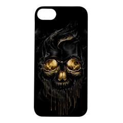 Art Fiction Black Skeletons Skull Smoke Apple iPhone 5S/ SE Hardshell Case