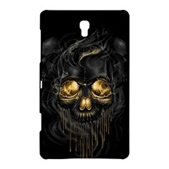 Art Fiction Black Skeletons Skull Smoke Samsung Galaxy Tab S (8.4 ) Hardshell Case