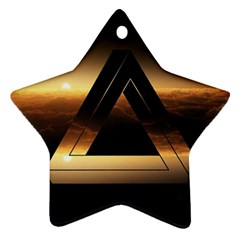 Triangle Penrose Clouds Sunset Ornament (Star)