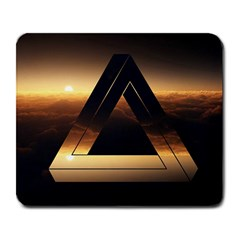 Triangle Penrose Clouds Sunset Large Mousepads