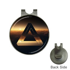 Triangle Penrose Clouds Sunset Hat Clips with Golf Markers