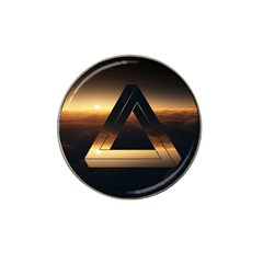 Triangle Penrose Clouds Sunset Hat Clip Ball Marker