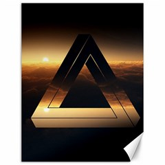 Triangle Penrose Clouds Sunset Canvas 12  x 16